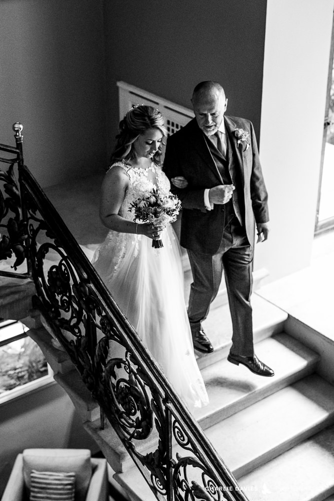 Bride and Father Port Lympne Hotel Wedding