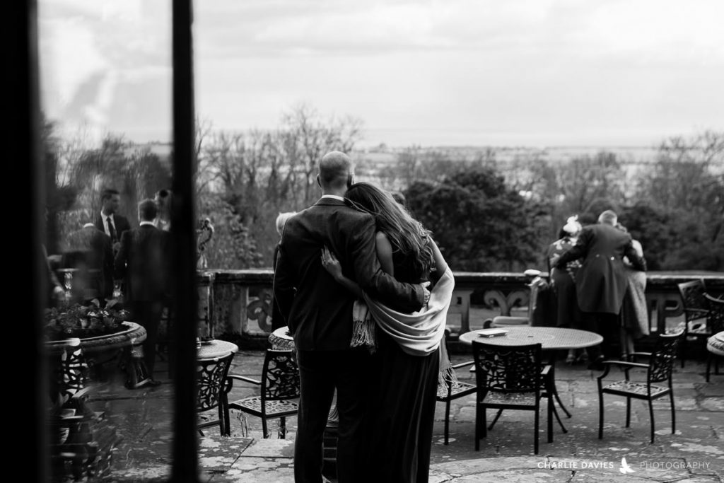 Hugging Port Lympne Hotel Wedding charlie davies wedding photography